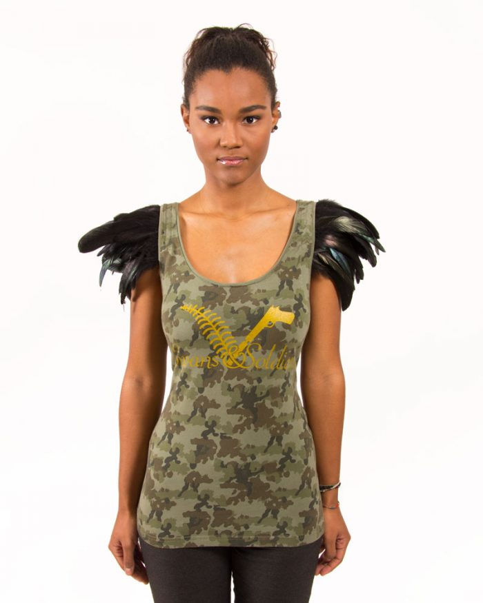 CAMO WOODLAND FEATHER TANK TOP